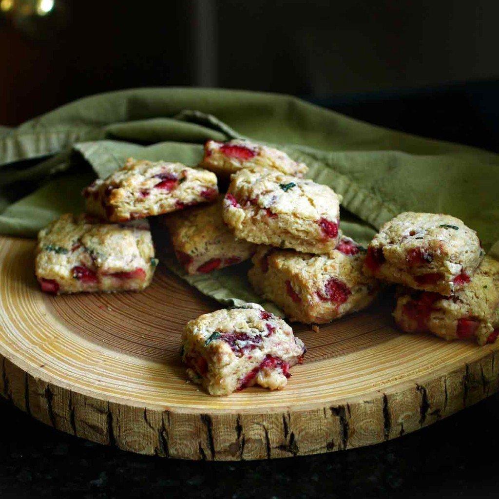 Fresh Strawberry Biscuits