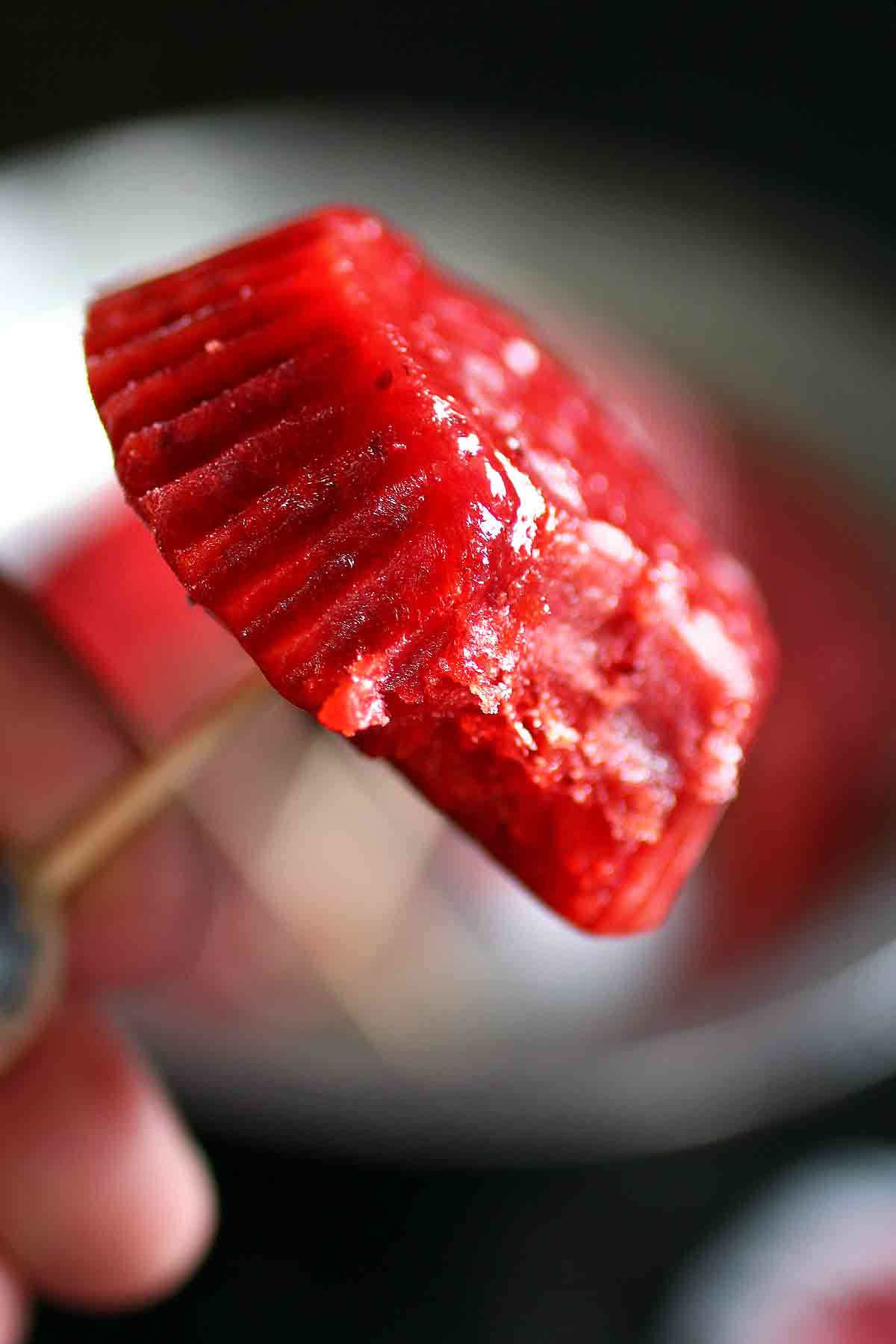 Strawberry Rose Popsicle Type Treats (Freeze Pops)