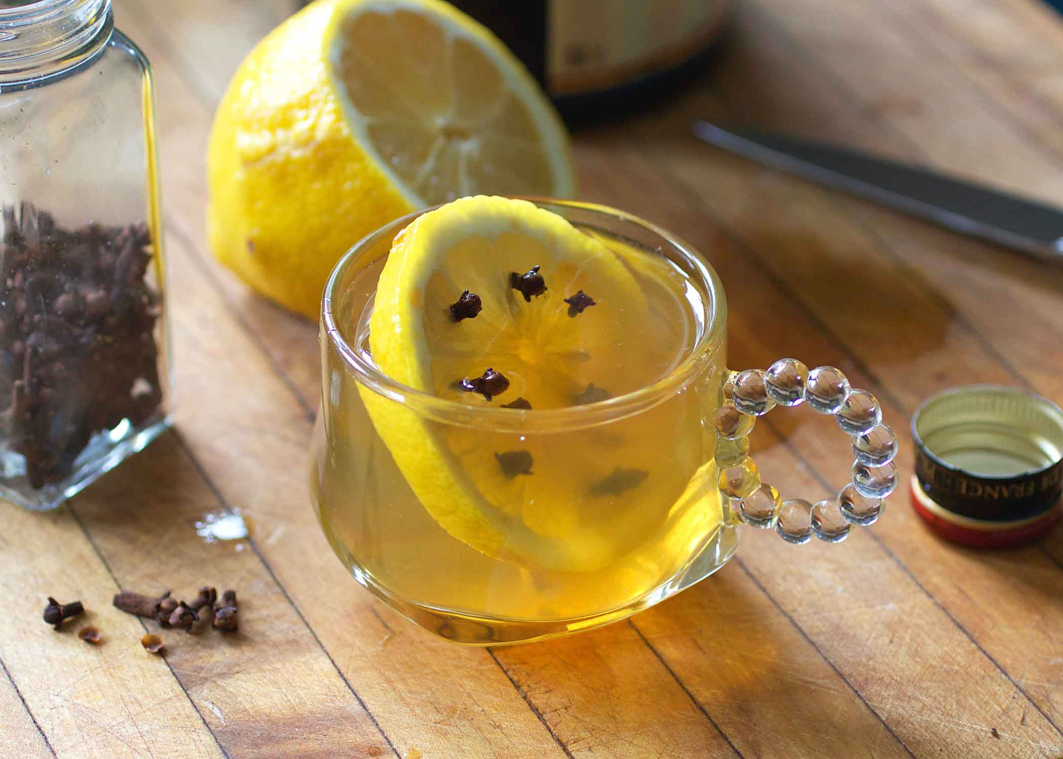 The Hot Toddy with brandy and honey
