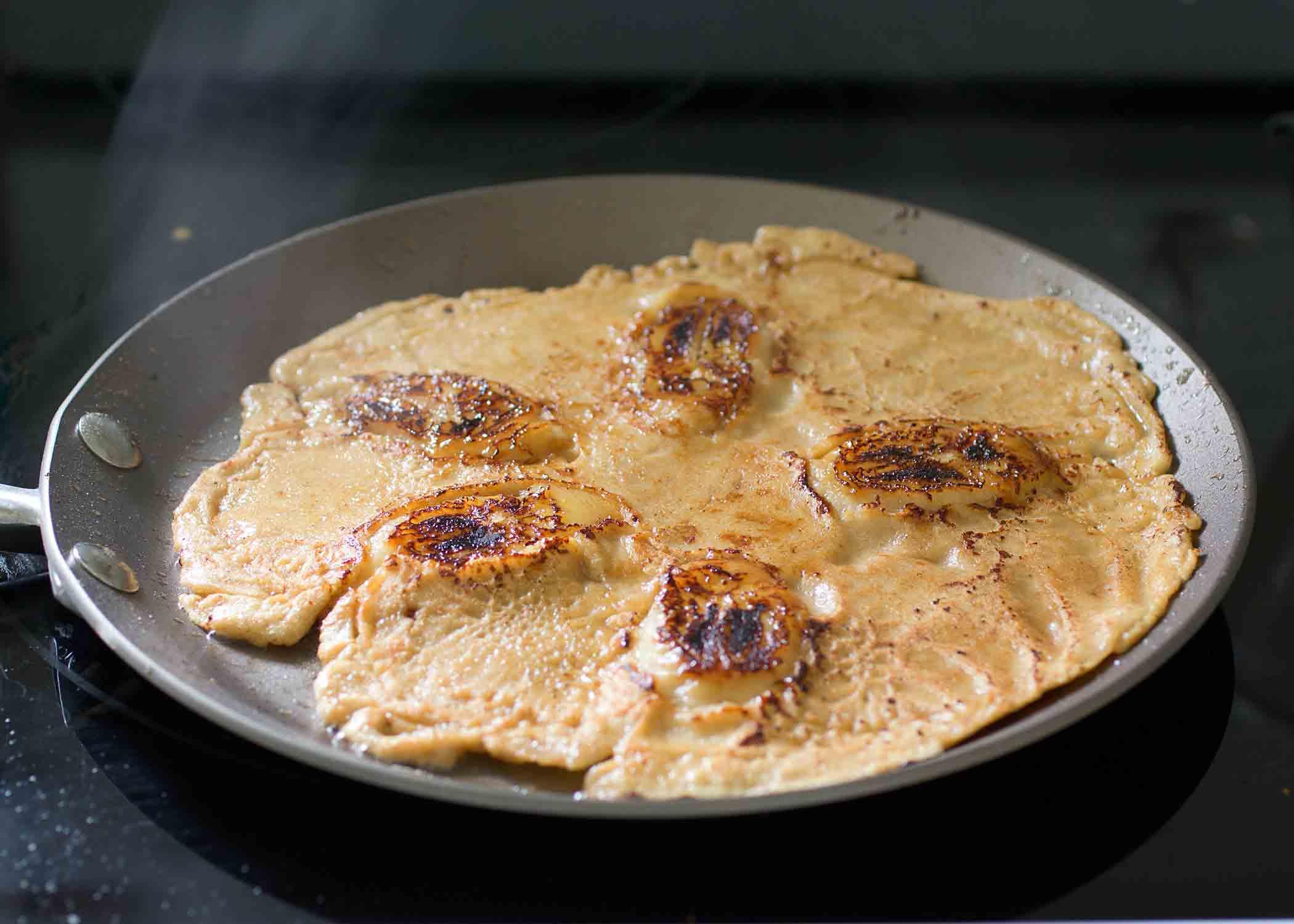 fresh orange and banana crepes: inspired by balinese banana pancakes