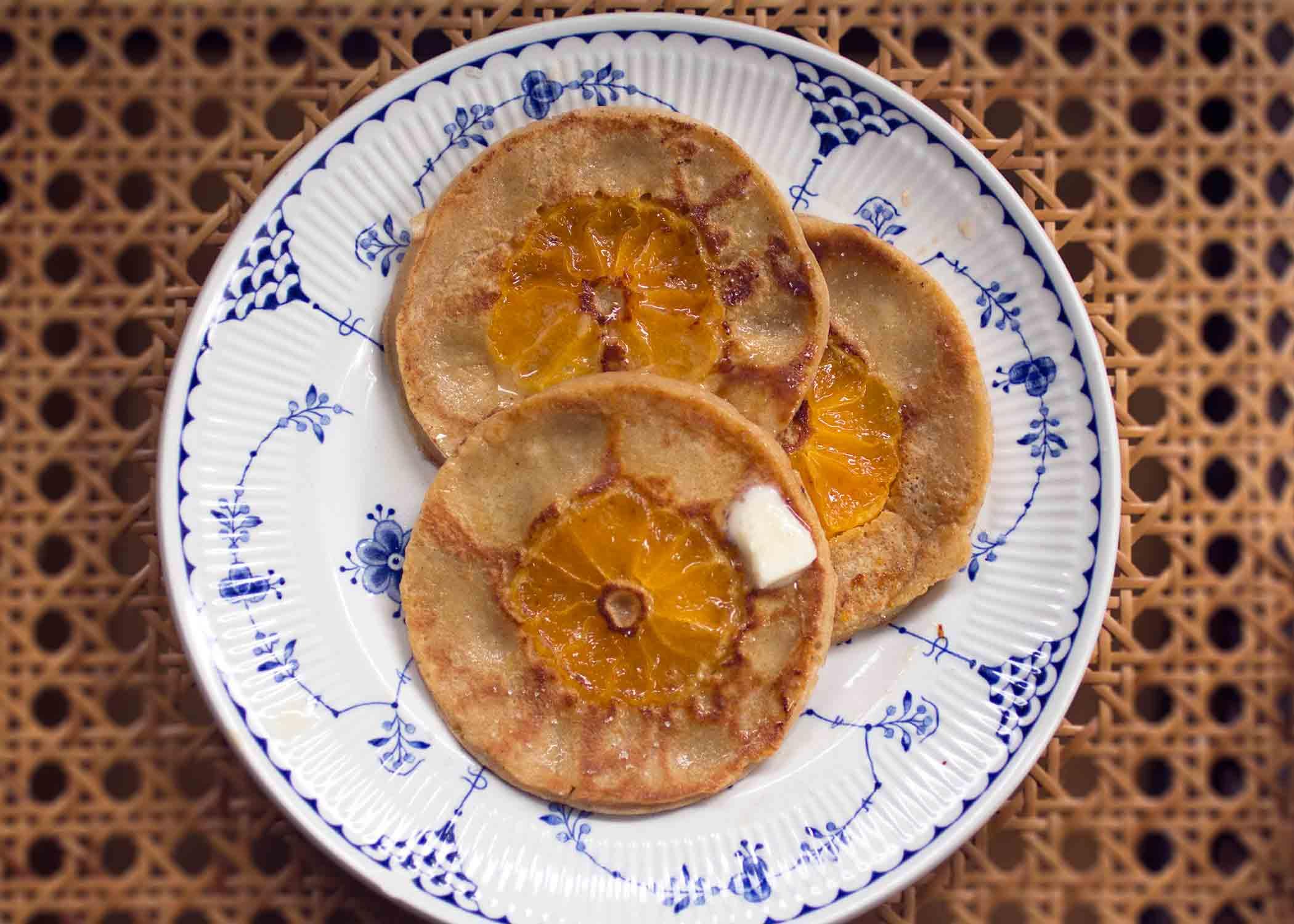 orange cardamom pancakes