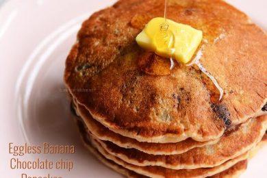 eggless banana pancake