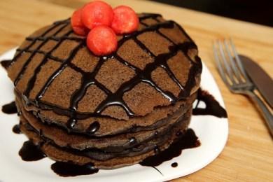 eggless chocolate pancake recipe