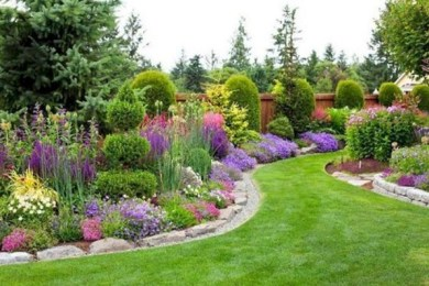 Colorful Backyard Garden feature