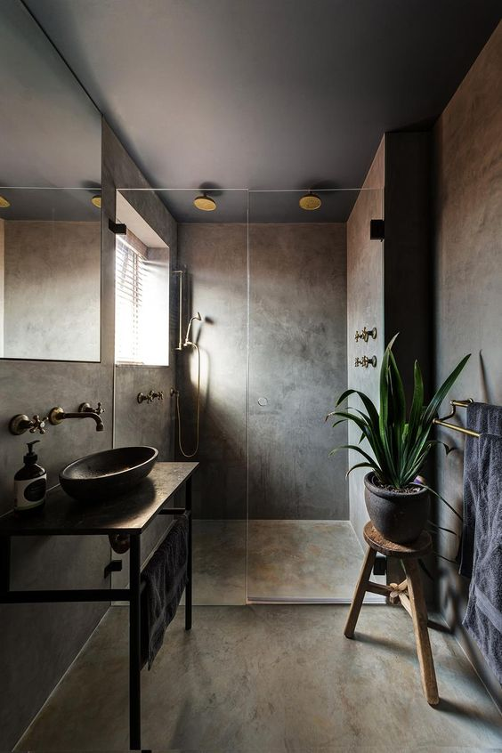 earthy bathroom 1