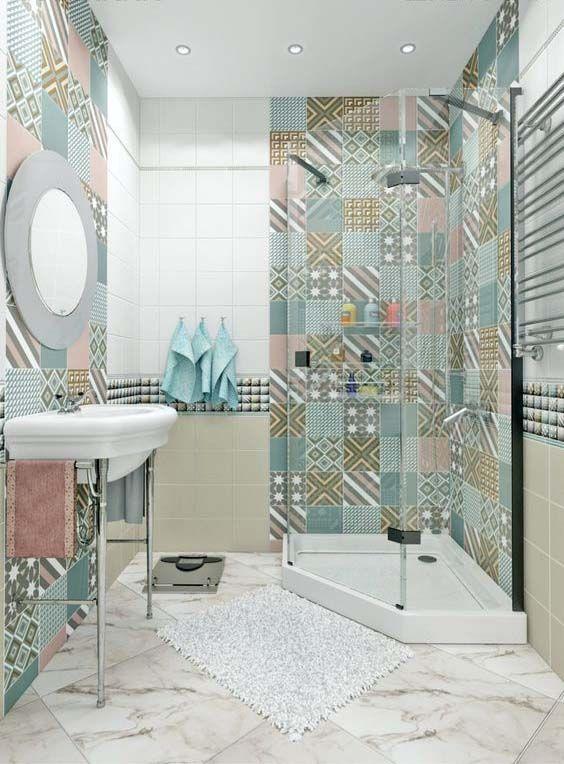 eclectic bathroom ideas 18