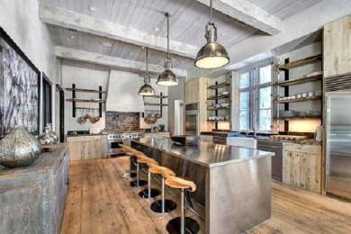 industrial kitchen feature