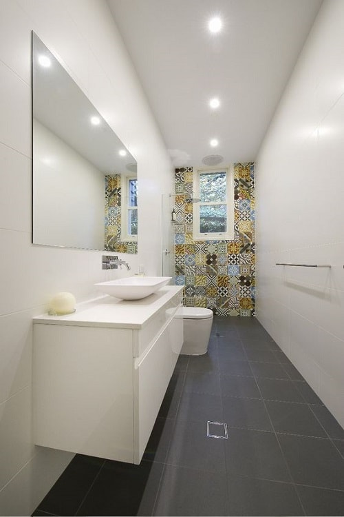 long narrow bathroom 12