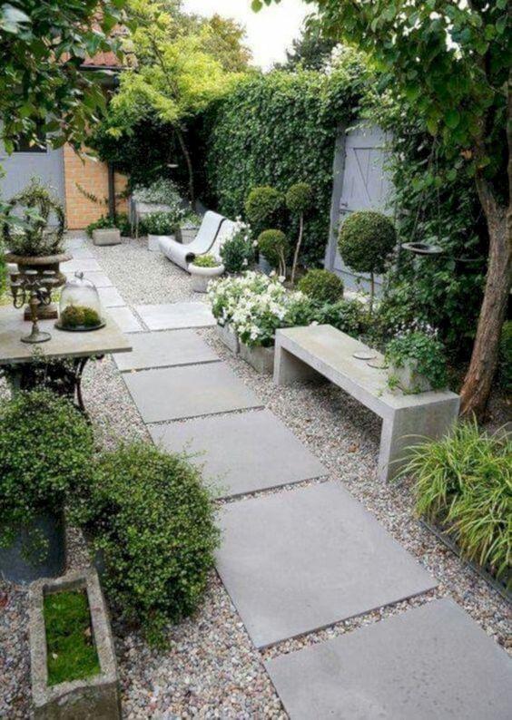 minimalist backyard garden 11