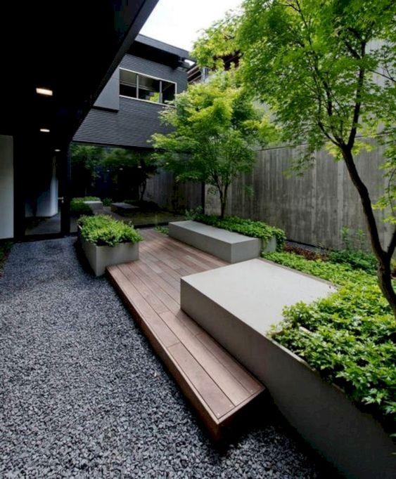 minimalist backyard garden 12