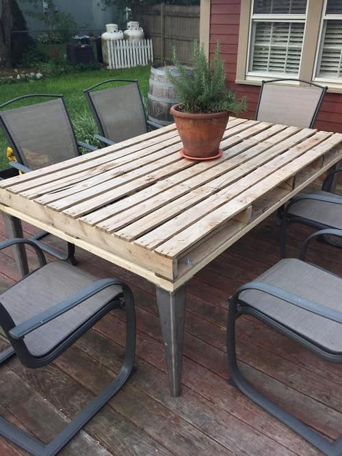 pallet dining table 4