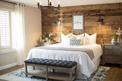 rustic bedroom feature