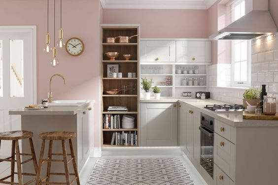 blush pink kitchen 1