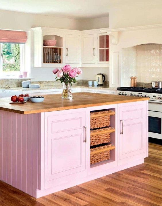 blush pink kitchen 9