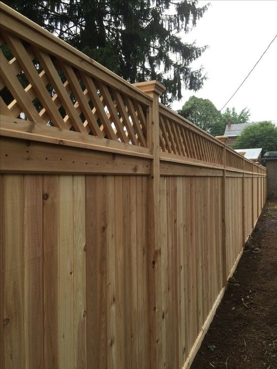 cedar fencing ideas 10