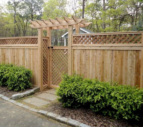 cedar fencing ideas 12