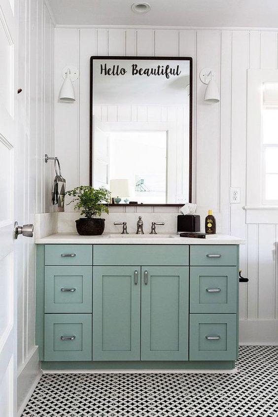 colored bathroom vanity 10