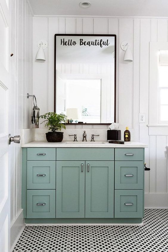 colored bathroom vanity 10