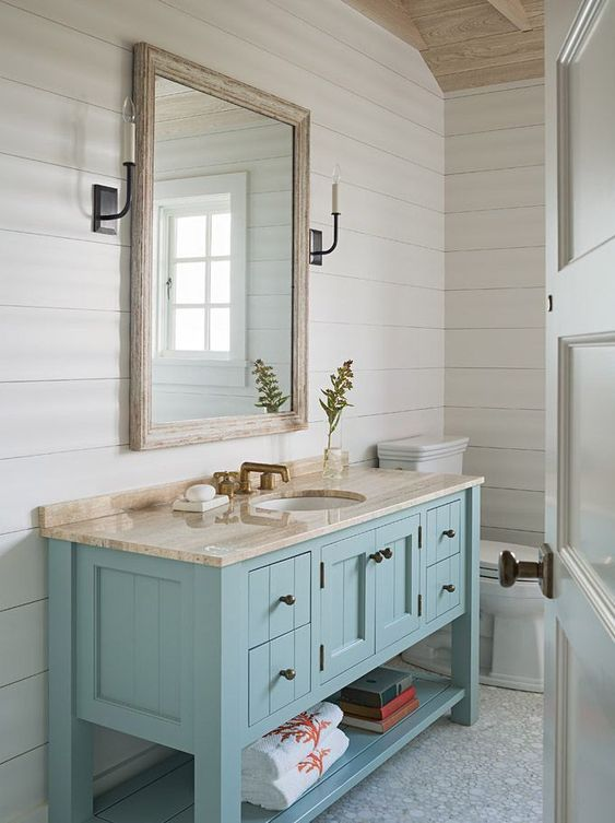 colored bathroom vanity 12