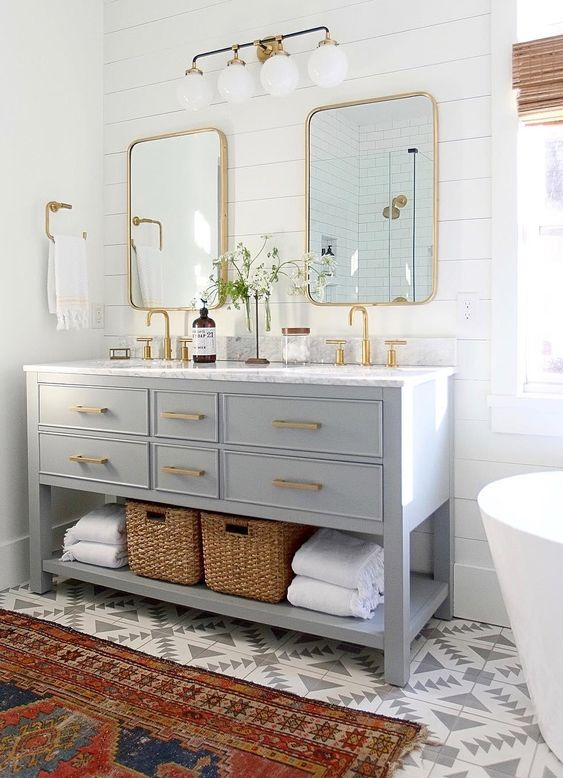 colored bathroom vanity 5