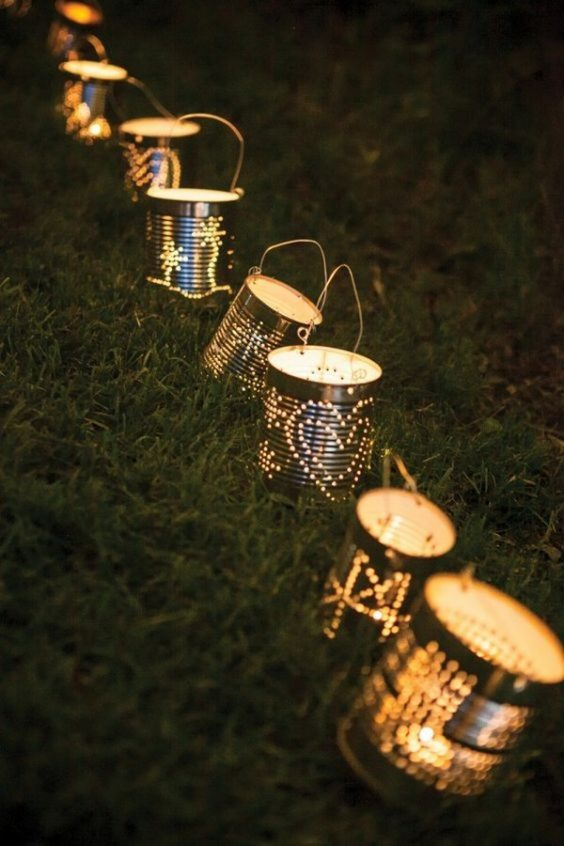 diy backyard lighting 18