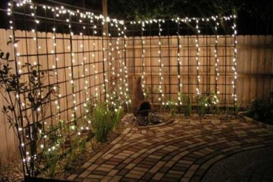 diy backyard lighting feature