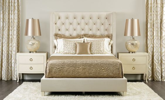 gold bedroom ideas 7