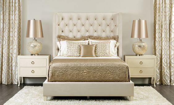 gold bedroom ideas 7