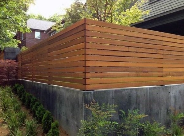 redwood fence ideas feature