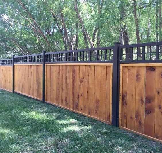 Modern Wood Fence 19
