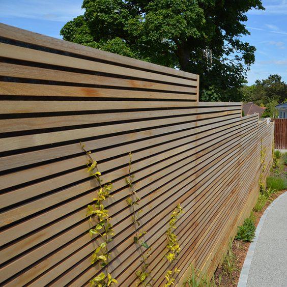 Modern Wood Fence 2