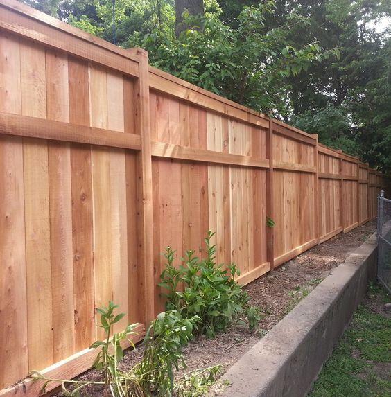 Modern Wood Fence 22