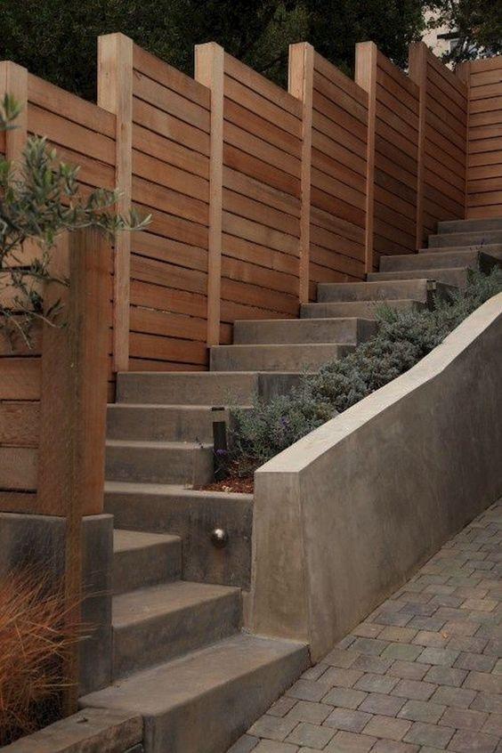 Modern Wood Fence 23