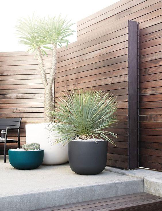 Modern Wood Fence 5