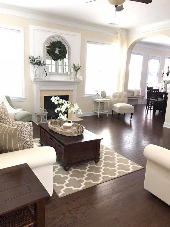farmhouse living room 17