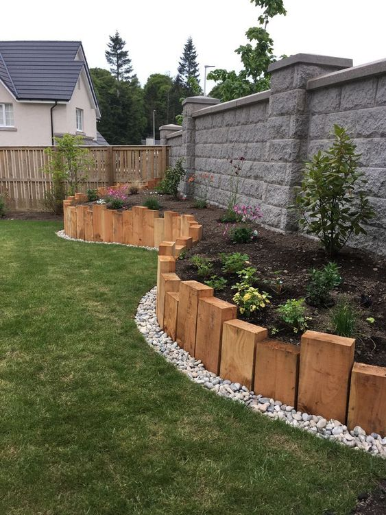 fence landscaping ideas 11