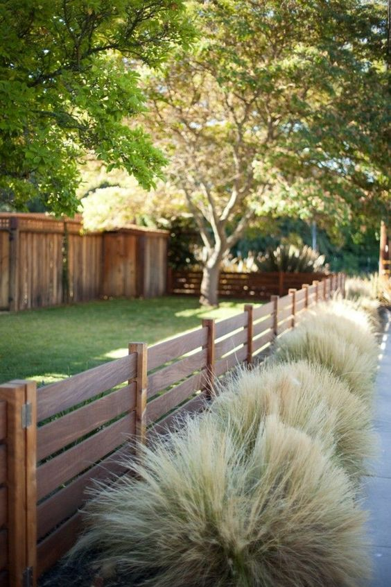 fence landscaping ideas 2