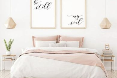 modern girls bedroom feature