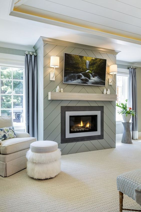 modern living room fireplace 11