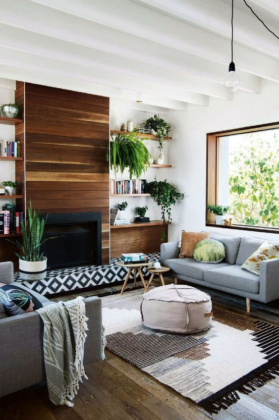 modern living room fireplace 16