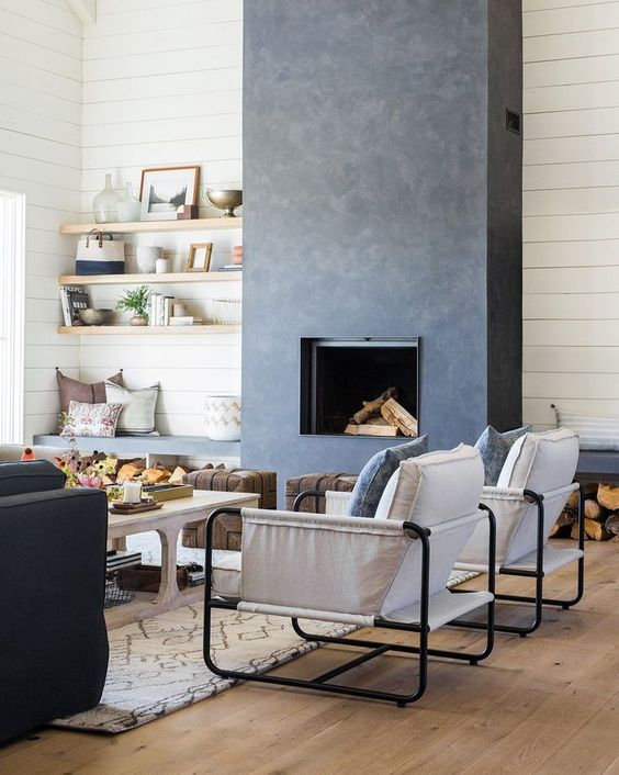 modern living room fireplace 19