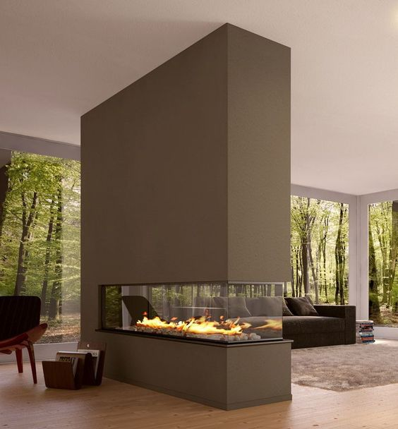 modern living room fireplace 21