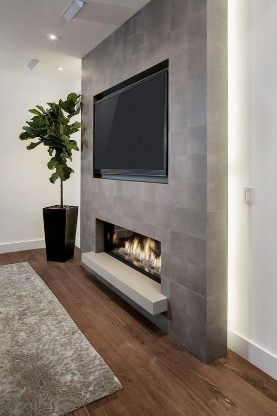 modern living room fireplace 3