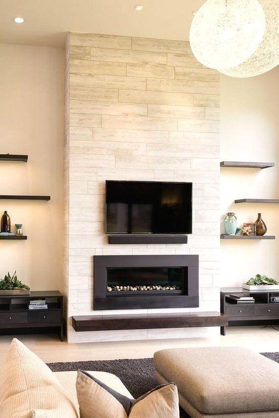 modern living room fireplace 7