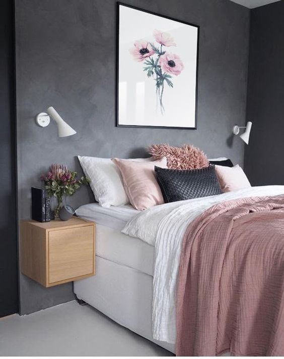 rose gold bedroom 1