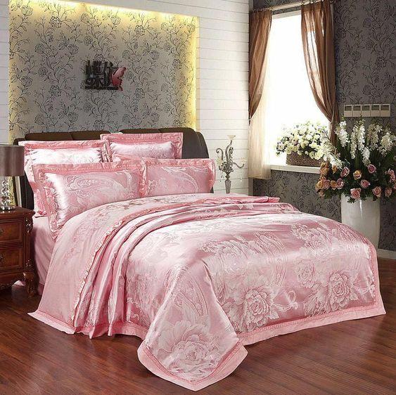 rose gold bedroom 13