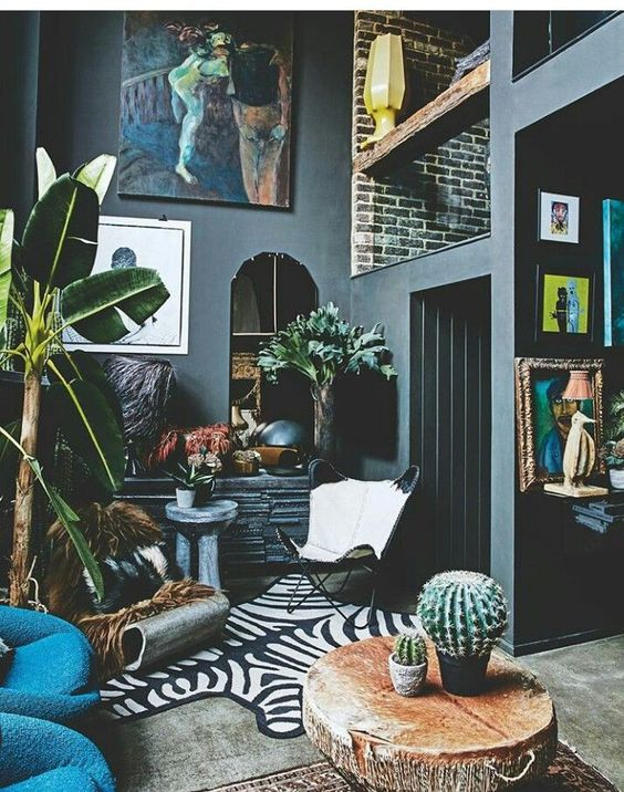 eclectic living room 14