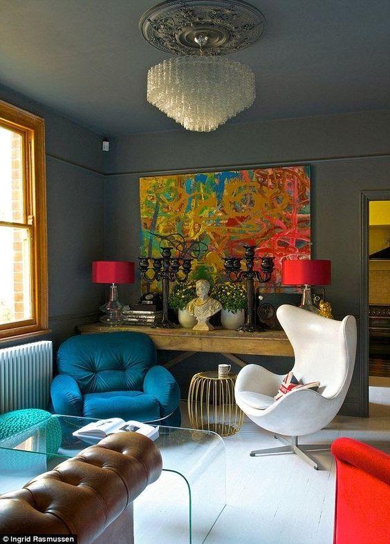 eclectic living room 7