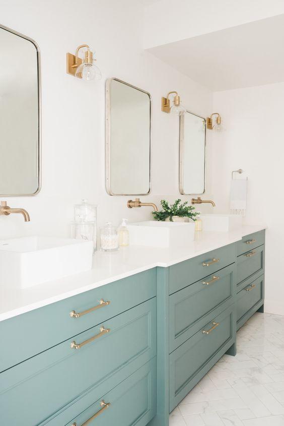 green bathroom ideas 13