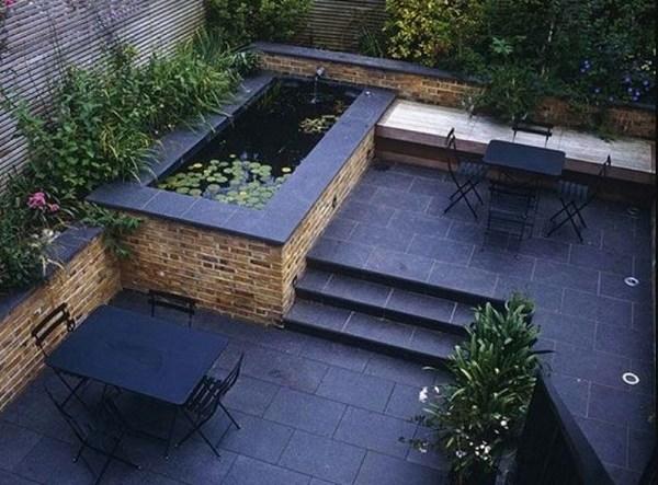 small backyard pond feature